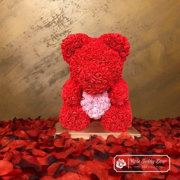mis-z-roz-czerwony-rozowy-40cm-sercem-i-wstazka