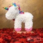 UNICORN Miś z Róż Jednorożec – Biały 40 cm